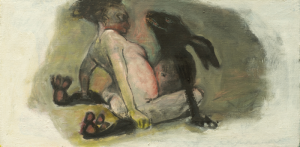 Beasts 3, 2012, oil on canvas, 26 x 51 cm