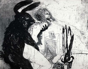 Beasts, 2003, etching, 19.5 x 24.5 cm, edition 25