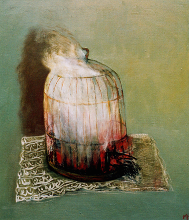 Bye bye blackbird 2, 2006, oil on canvas, 71 x 66 cm