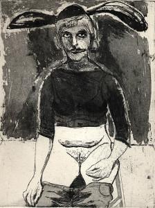 Bunny, 2001, etching/aquatint, 25 x 19 cm, edition 25
