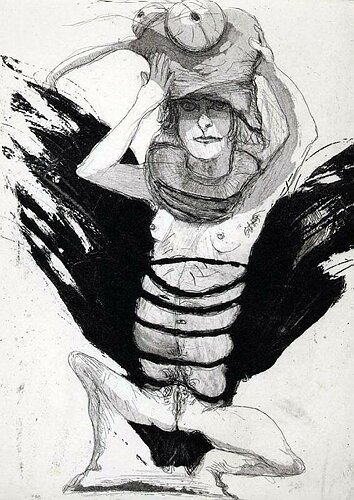 Chrysalis, 2002, etching/aquatint, 20 x 15 cm, edition 25