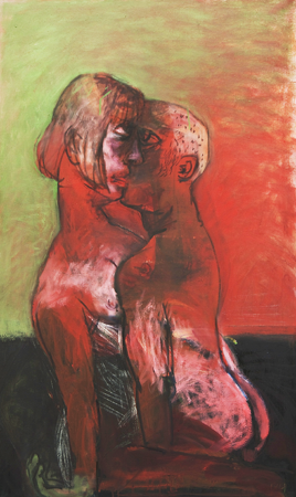 Couple, 2009, oil on canvas, 102 x 62 cm