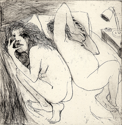 Couple, 2006, etching, 19 x 19 cm, edition 30