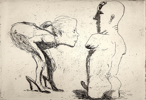 Curiosity, 2001, etching/aquatint, 18 x 25 cm, edition 25