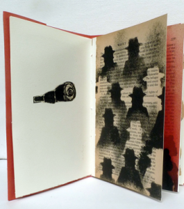 Displaced, Unique artist book, Altered book, 2014, 18,5 x 12,5 cm - page 4