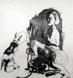 Dissolution of the Doris Day syndrome 2, 2004, etching, 31 x 27.5 cm, edition 30