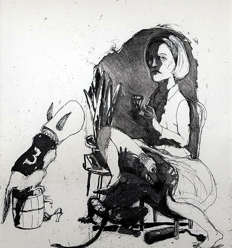 Dissolution of the Doris Day syndrome 2, 2004, etching/aquatint, 31 x 27.5 cm, edition 30
