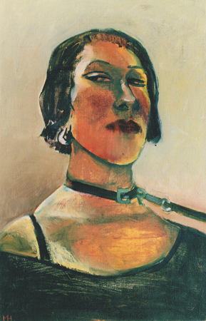 Study for a dog collar 2, 2004, oil on canvas, 56 x 36 cm