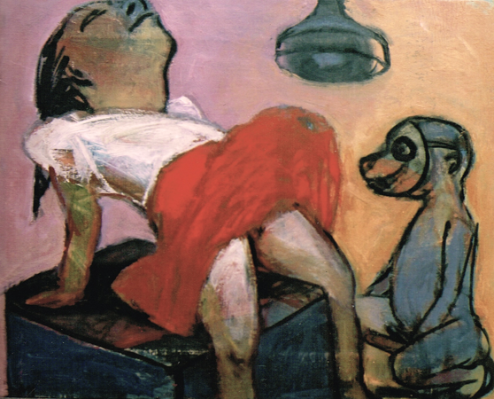 Domestic bliss, 2003, oil on canvas, 40 x 50 cm