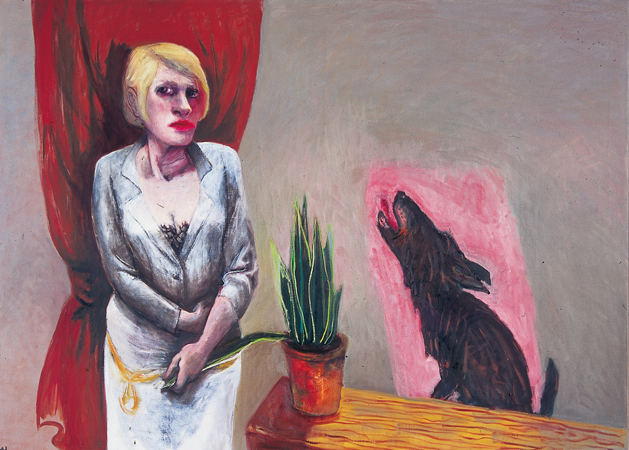 The doubtful pleasures of domesticity, 2007, oil on canvas, 112 x 155 cm