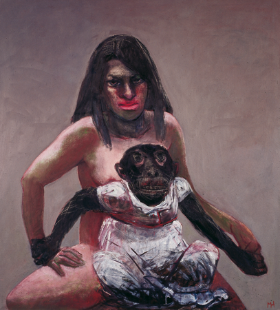 Dresscode, 2006, oil on canvas, 100 x 90 cm