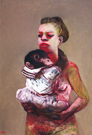 Dresscode 2, 2006, oil on canvas, 96 x 66 cm