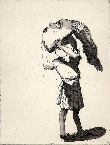 Facing-up, 2001, etching/aquatint, 25 x 19 cm, edition 25