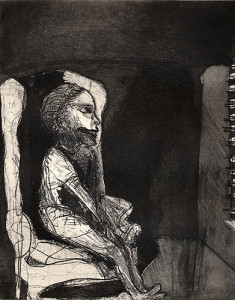 Girl afraid of the dark, 2001, etching/aquatint, 25 x 20 cm, edition 25