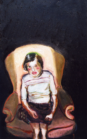 Girl afraid of the dark, 2001, oil on canvas, 51 x 31 cm