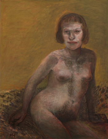 Hairy beauty, 2010, oil on canvas, 97 x 76 cm
