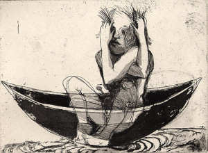 Hold me 1, 2001, etching/aquatint, 15 x 20 cm, edition 25