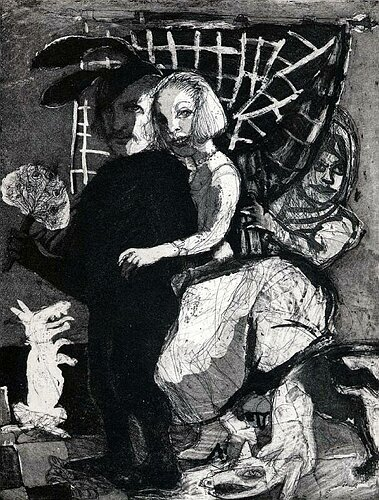 Home sweet home (La menagerie), 2004, etching/aquatint, 27 x 21 cm, edition 30