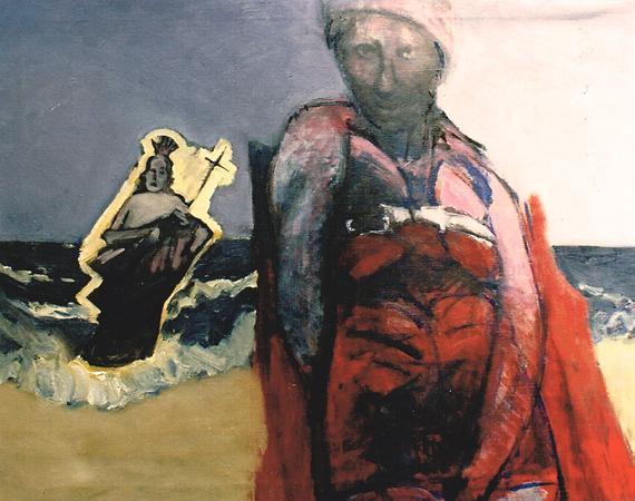 La calviniste, 1993, oil on canvas, 80 x 100 cm