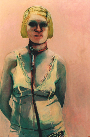 La charmeuse, 2004, oil on canvas, 97 x 65 cm