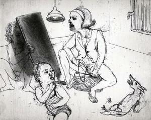La Petite Mort 1, 2005, etching, 20 x 25 cm, edition 30