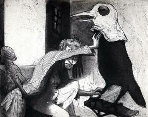 La Petite Mort 10, 2005, etching, 20 x 25 cm, edition 30