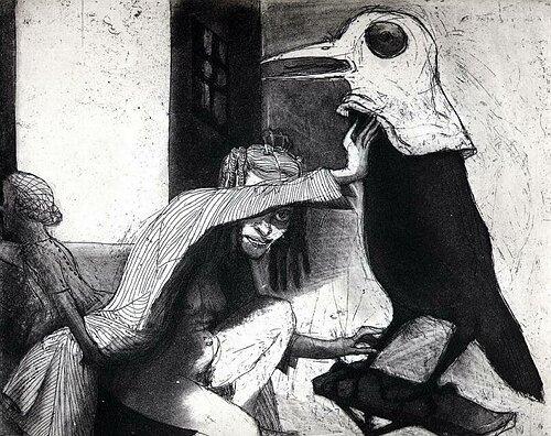 La Petite Mort 10, 2005, etching/aquatint, 20 x 25 cm, edition 30