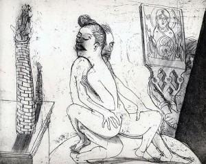 La Petite Mort 11, 2005, etching, 20 x 25 cm, edition 30
