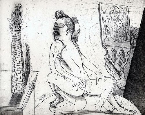 La Petite Mort 11, 2005, etching/aquatint, 20 x 25 cm, edition 30