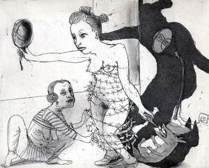 La Petite Mort 12, 2005, etching, 20 x 25 cm, edition 30