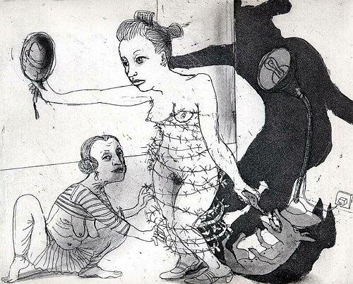 La Petite Mort 12, 2005, etching/aquatint, 20 x 25 cm, edition 30