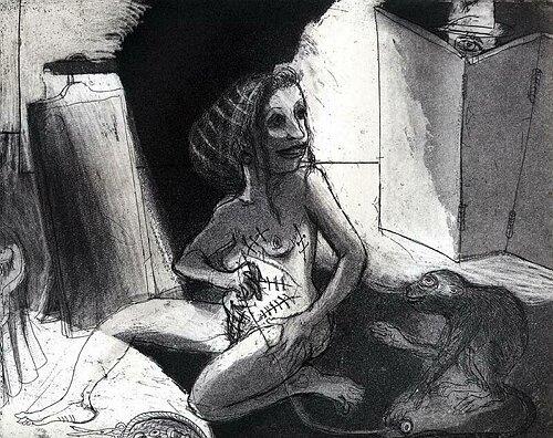 La Petite Mort 13, 2005, etching/aquatint, 20 x 25 cm, edition 30