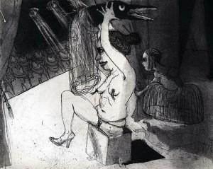 La Petite Mort 14, 2005, etching, 20 x 25 cm, edition 30