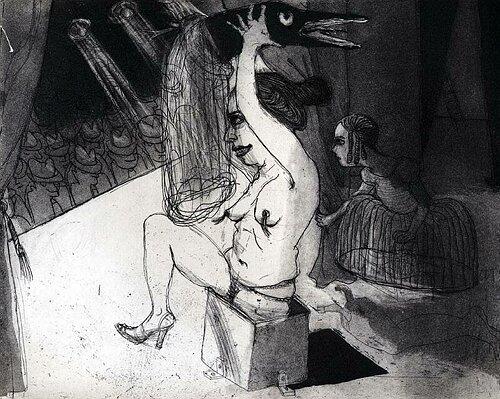 La Petite Mort 14, 2005, etching/aquatint, 20 x 25 cm, edition 30