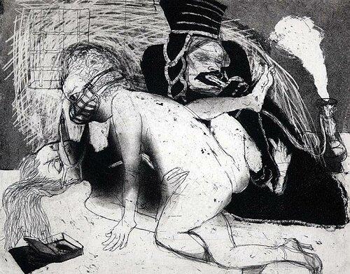 La Petite Mort 15, 2005, etching/aquatint, 20 x 25 cm, edition 30