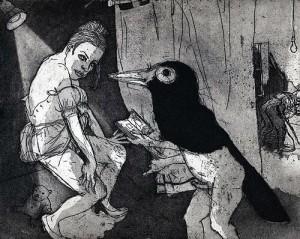 La Petite Mort 16, 2005, etching, 20 x 25 cm, edition 30