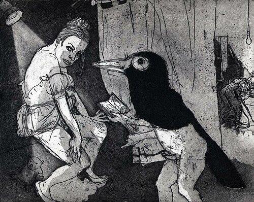 La Petite Mort 16, 2005, etching/aquatint, 20 x 25 cm, edition 30