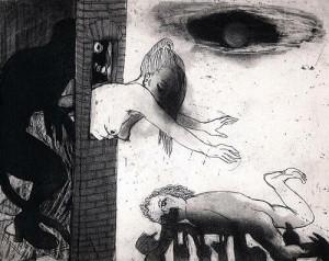 La Petite Mort 17, 2005, etching, 20 x 25 cm, edition 30