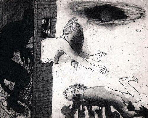 La Petite Mort 17, 2005, etching/aquatint, 20 x 25 cm, edition 30