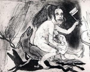 La Petite Mort 18, 2005, etching, 20 x 25 cm, edition 30