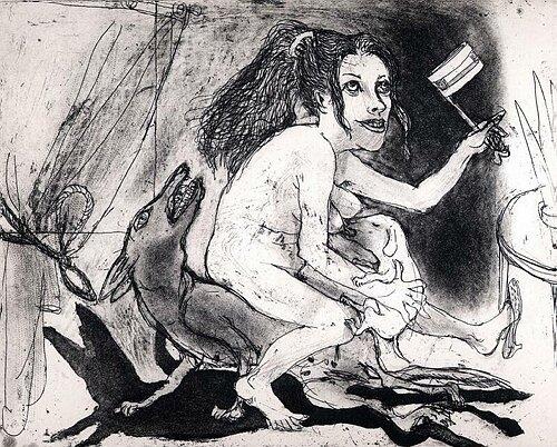 La Petite Mort 18, 2005, etching/aquatint, 20 x 25 cm, edition 30