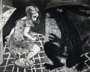 La Petite Mort 19, 2005, etching, 20 x 25 cm, edition 30