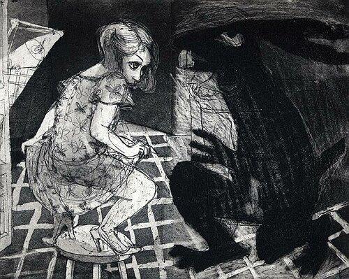 La Petite Mort 19, 2005, etching/aquatint, 20 x 25 cm, edition 30
