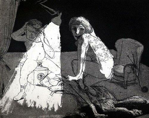 La Petite Mort 2, 2005, etching/aquatint 20 x 25 cm, edition 30