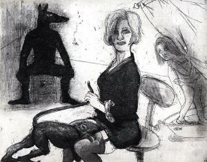 La Petite Mort 4, 2005, etching, 20 x 25 cm, edition 30