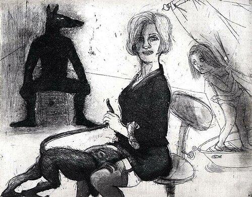 La Petite Mort 4, 2005, etching/aquatint, 20 x 25 cm, edition 30