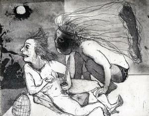 La Petite Mort 5, 2005, etching, 20 x 25 cm, edition 30