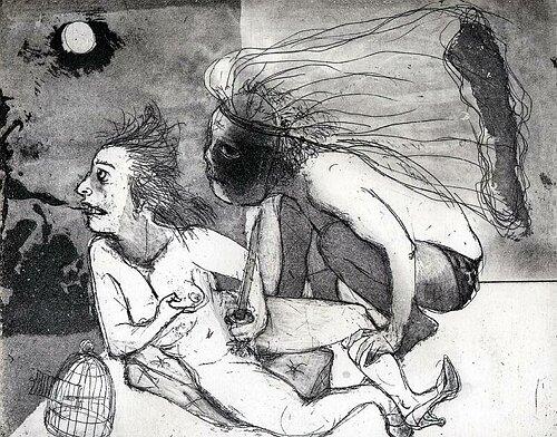 La Petite Mort 5, 2005, etching/aquatint, 20 x 25 cm, edition 30