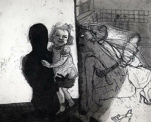 La Petite Mort 7, 2005, etching/aquatint, 20 x 25 cm, edition 30