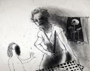 La Petite Mort 8, 2005, etching, 20 x 25 cm, edition 30